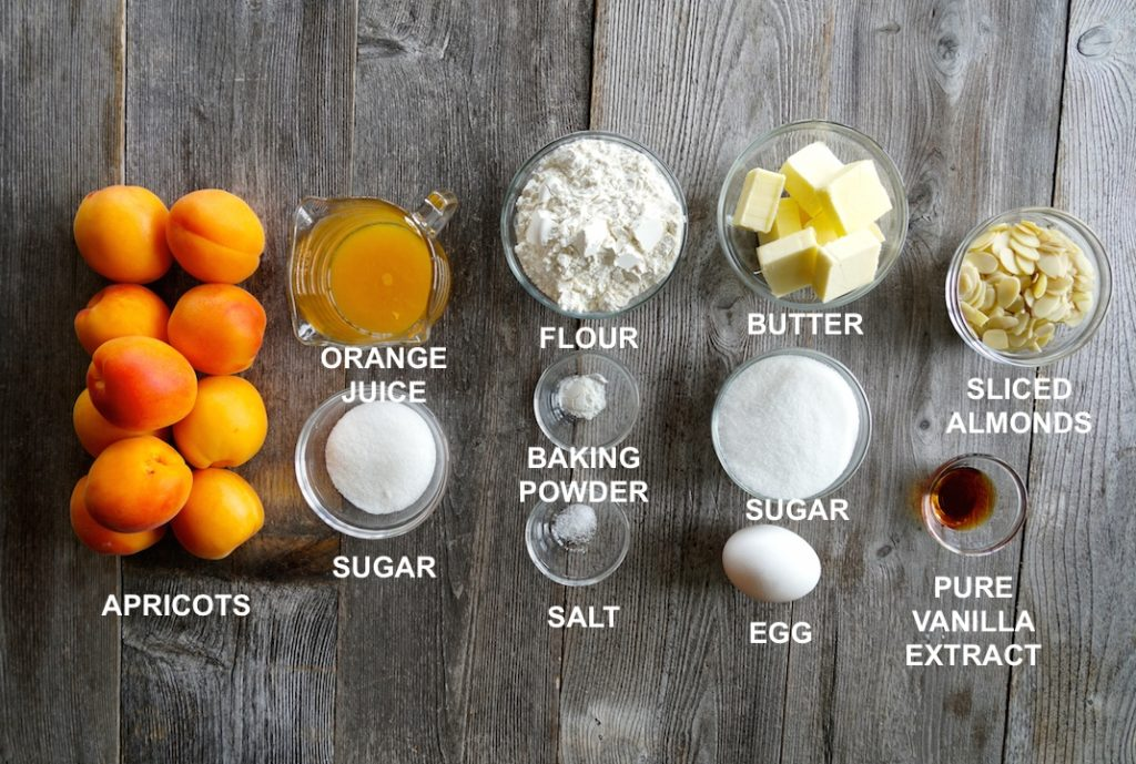 Ingredients for Apricot Cobbler