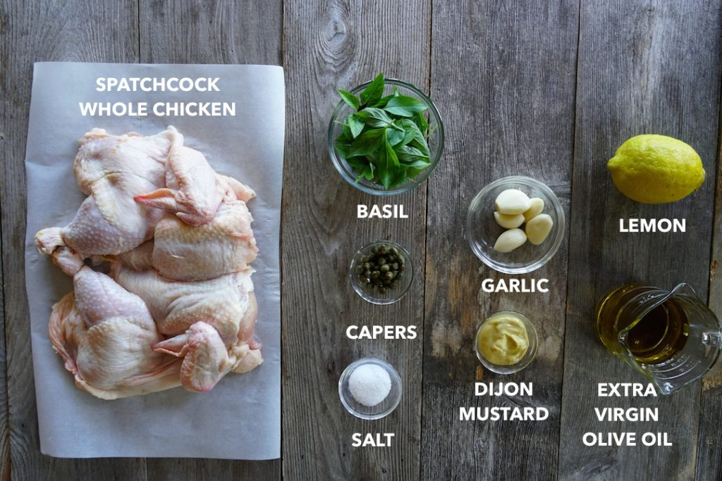 Ingredients for Easy Grilled Chicken