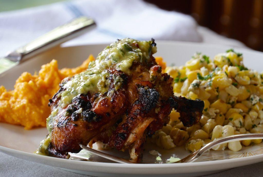 Easy Grilled Chicken dinner