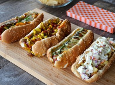 A tray of the Best Hot Dog Recipes