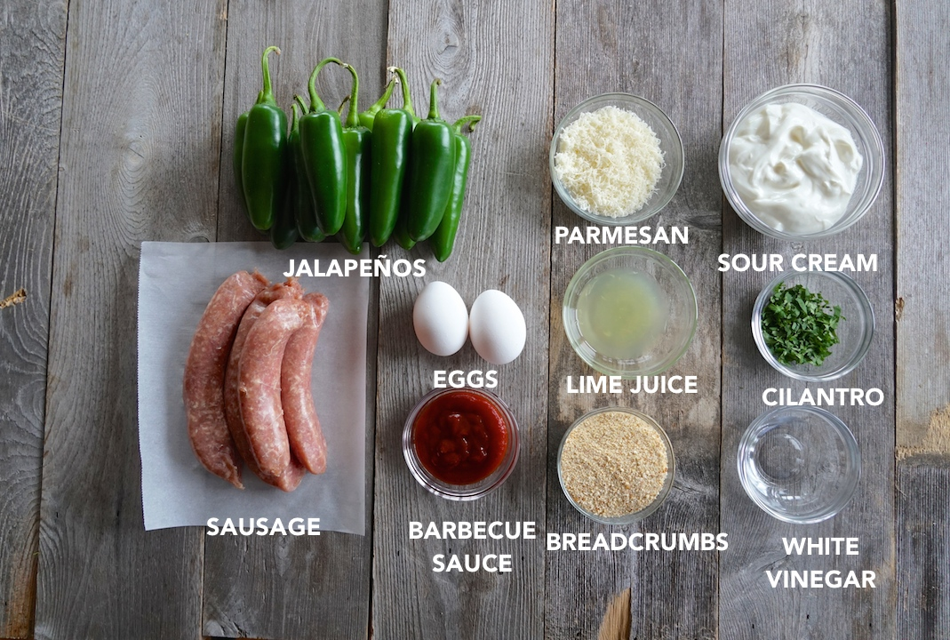 Ingredients for the Sausage-Stuffed Jalapeños