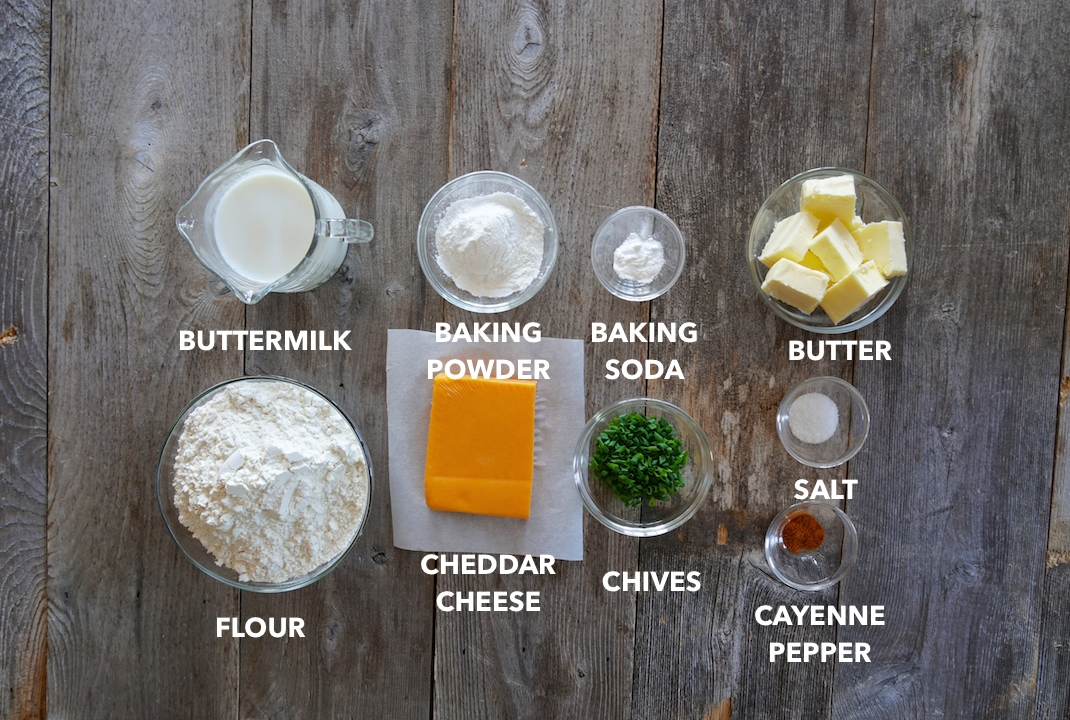 Ingredients for Easy Buttermilk Biscuits