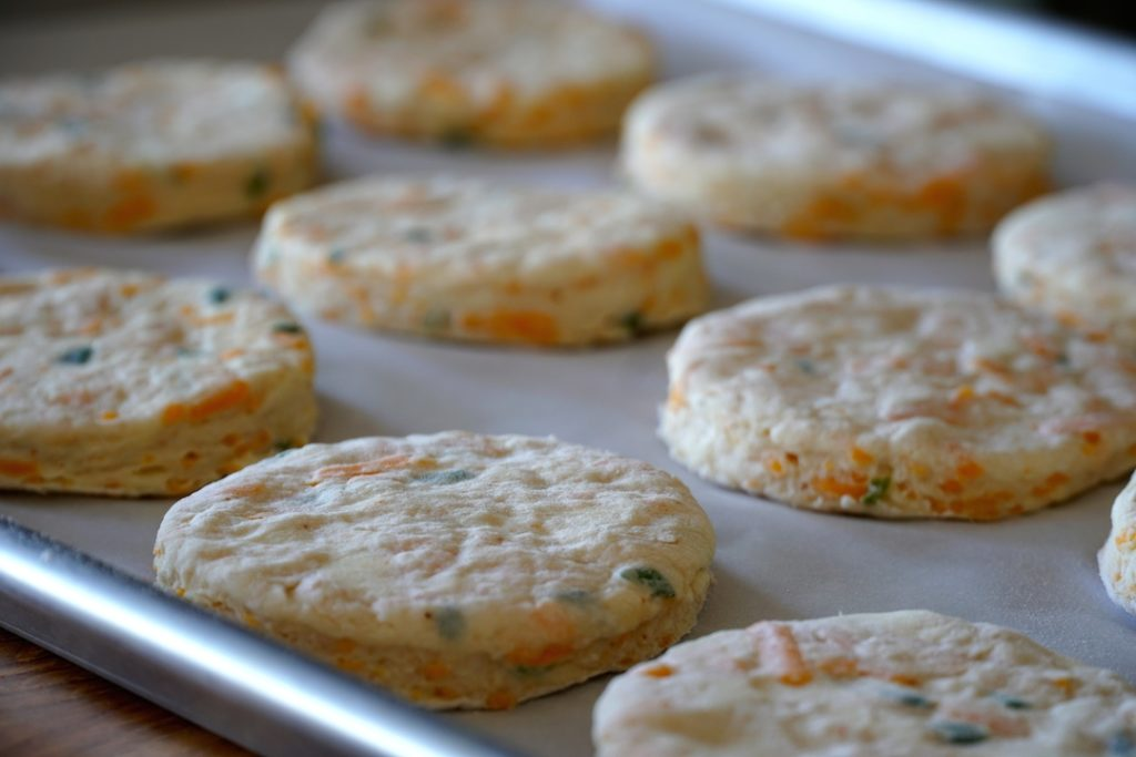close up of biscuits