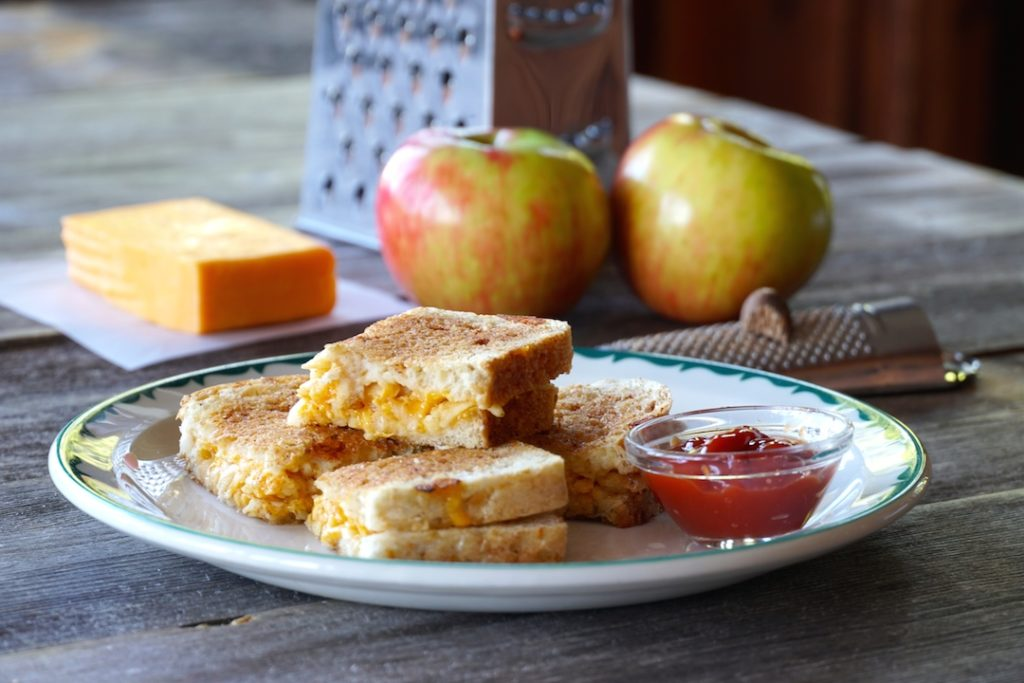 Apple Pie Grilled Cheese served for lunch