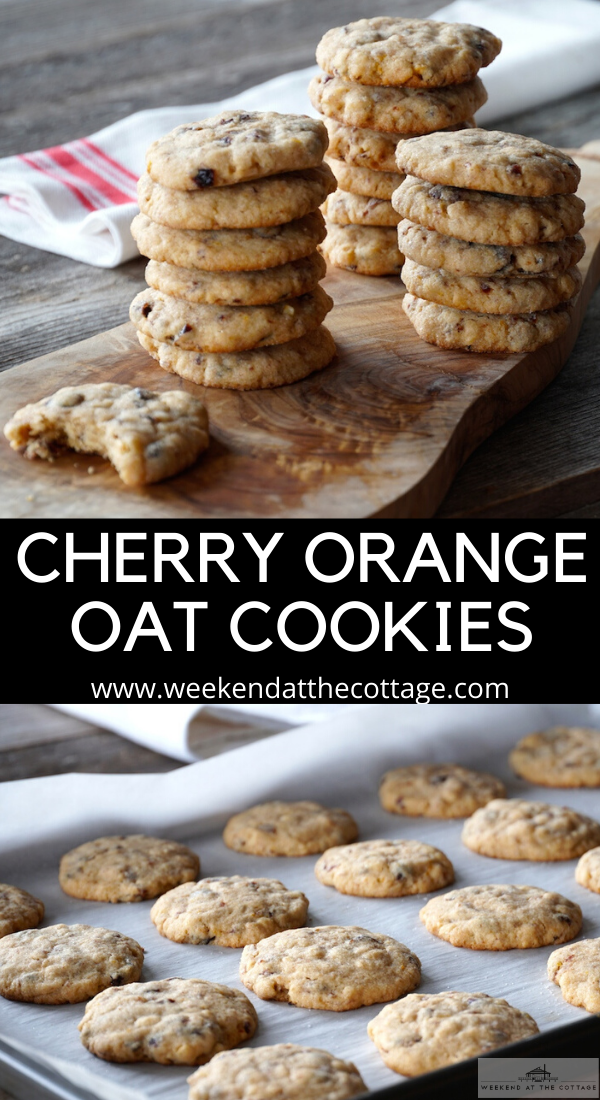 Cherry Orange Oat Cookies
