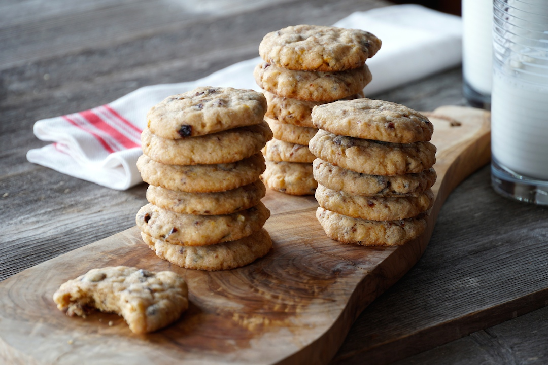 Cherry Orange Oat Cookies