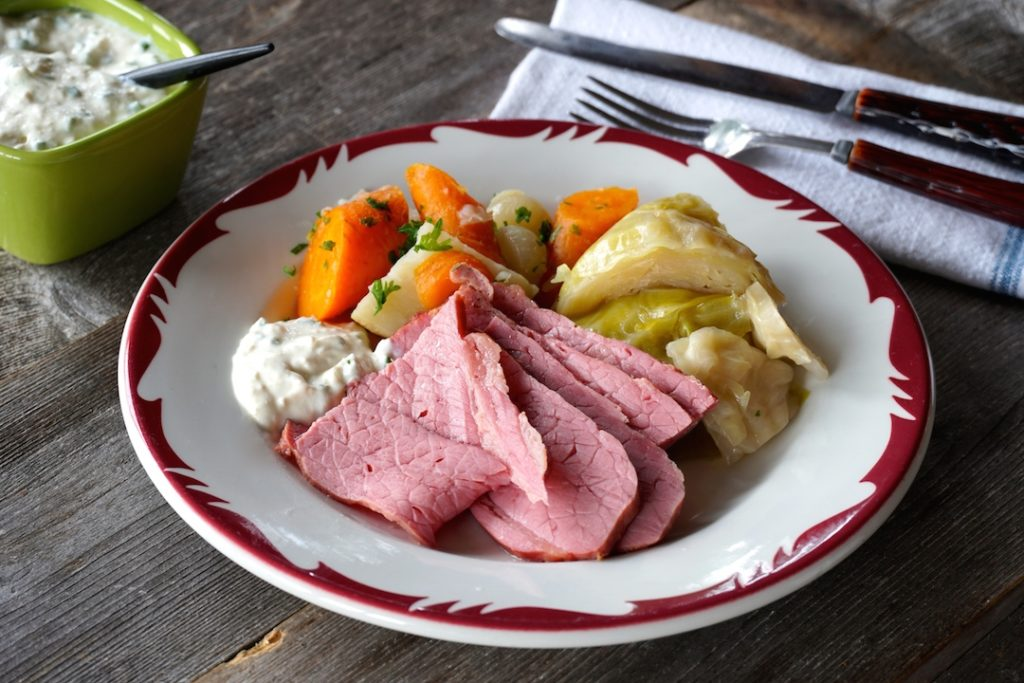 Corned Beef Dinner served on a plate
