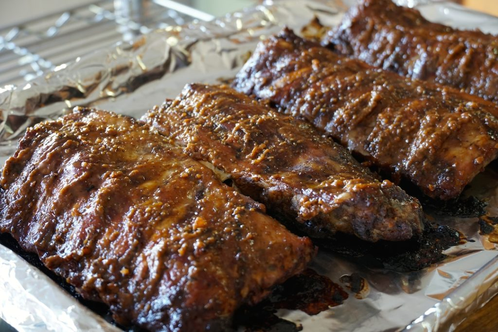 Ribs from out of the oven