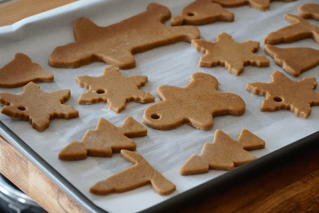 Gingerbread Spiced Cookies ready to be baked