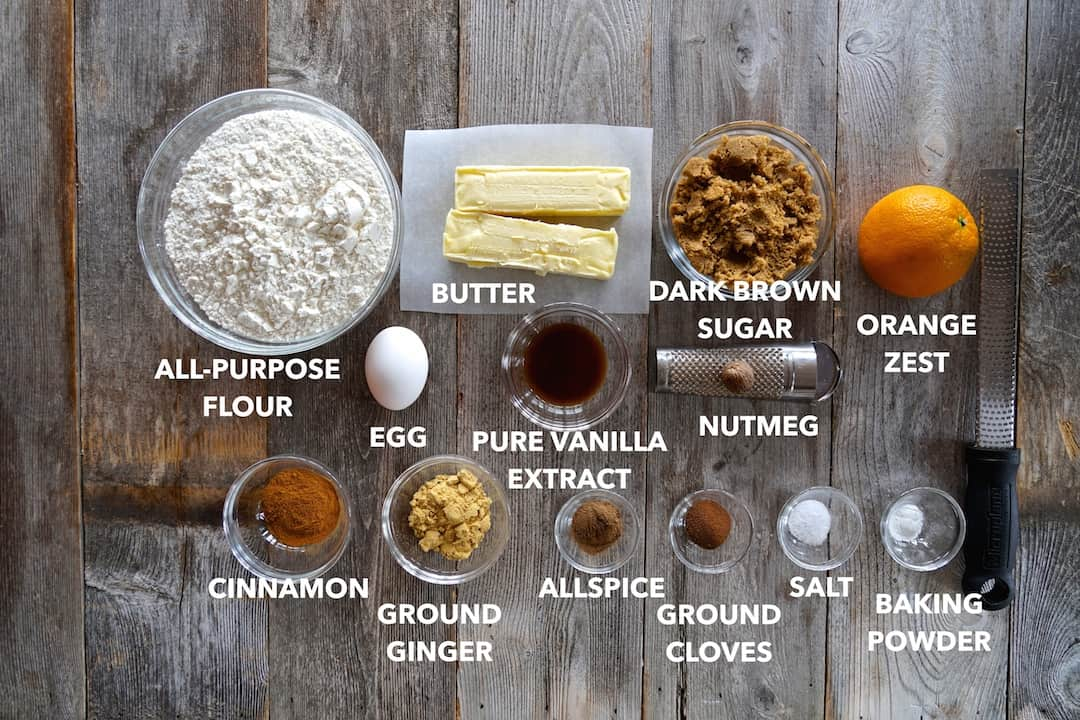 Ingredients for Gingerbread Spiced Cookies