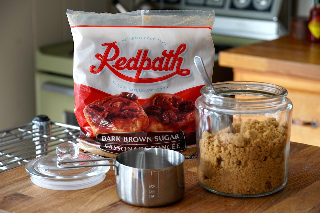 We use dark brown sugar to build the flavour profile