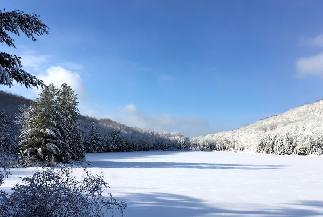 January 2020 Newsletter Frozen Lake