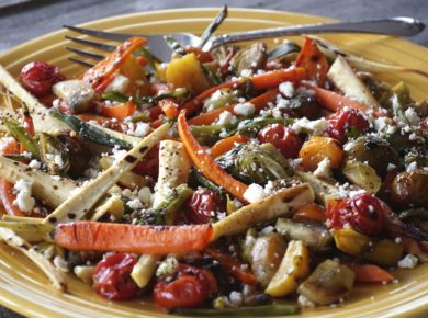 Oven-Roasted Vegetables Recipe served