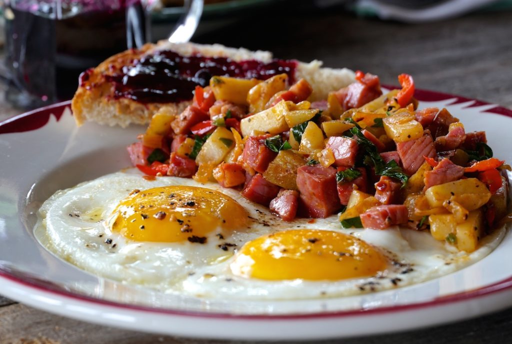 Close up of Easy Corned Beef Hash