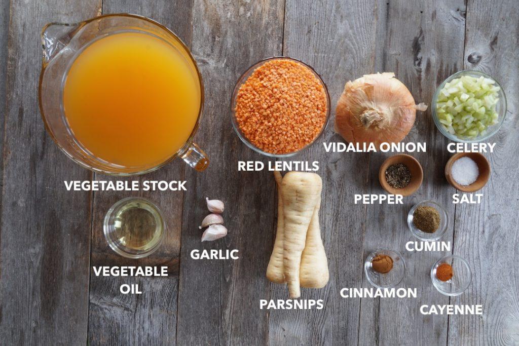 Ingredients for Lemony Lentil Soup