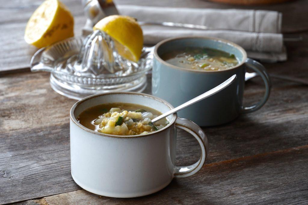 Mugs of Lemony Lentil Soup
