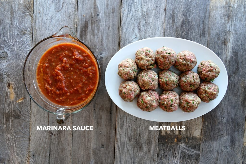 Ingredeints for Meatballs and Marinara Sauce