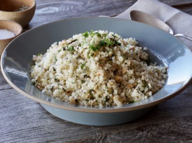 Lemon-Herb Riced Cauliflower