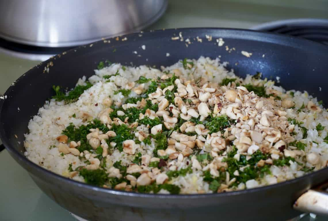 Lemon Herb Riced Cauliflower