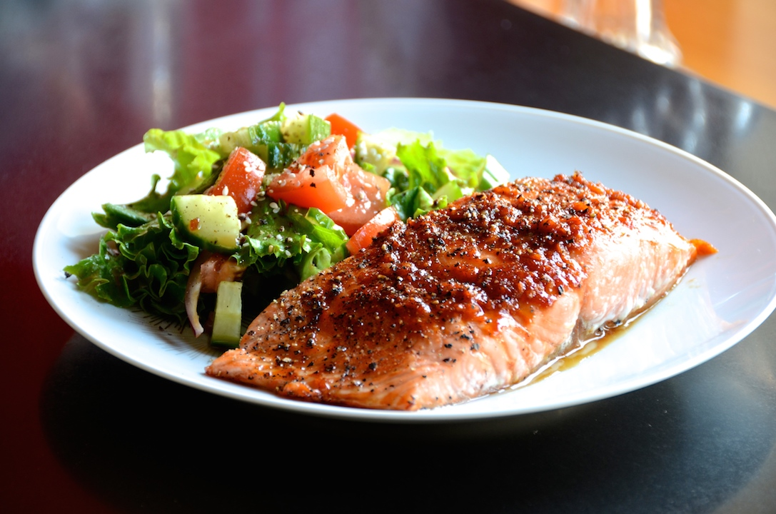 Sweet & Spicy Asian Salmon