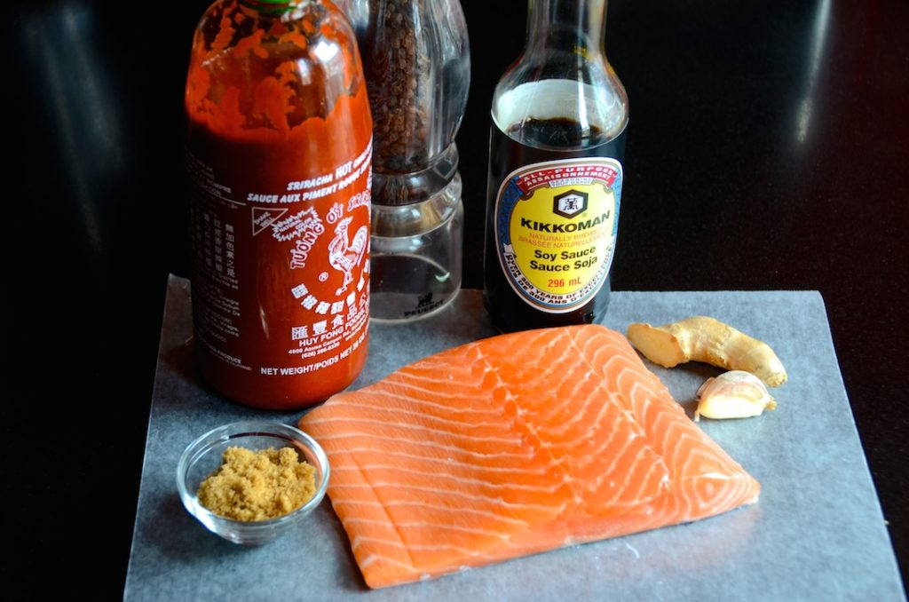 Ingredients for Asian salmon
