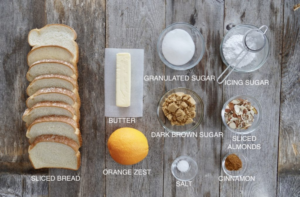 Ingredients for Orange-Scented Cinnamon Toast