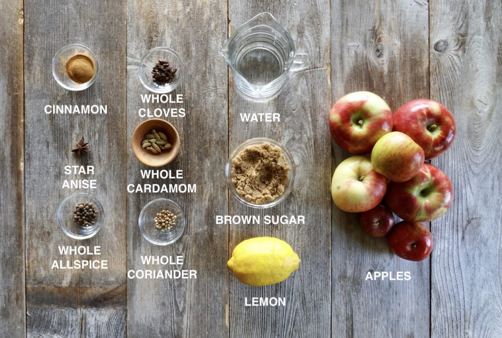 Ingredients for Spiced Applesauce