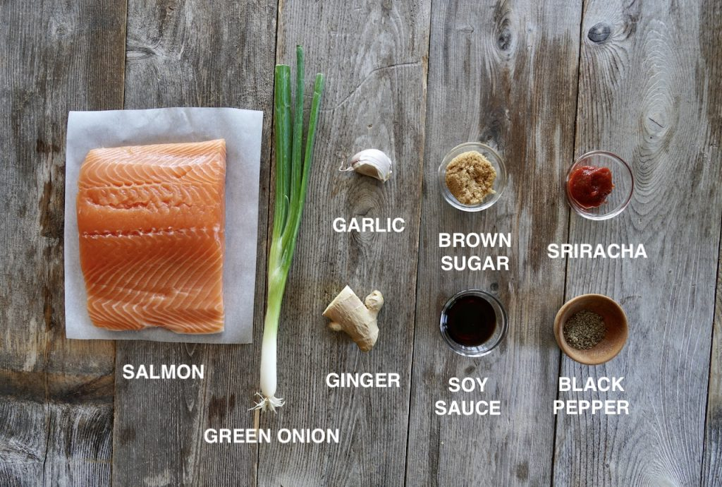 Ingredients for Sweet and Spicy Asian Salmon
