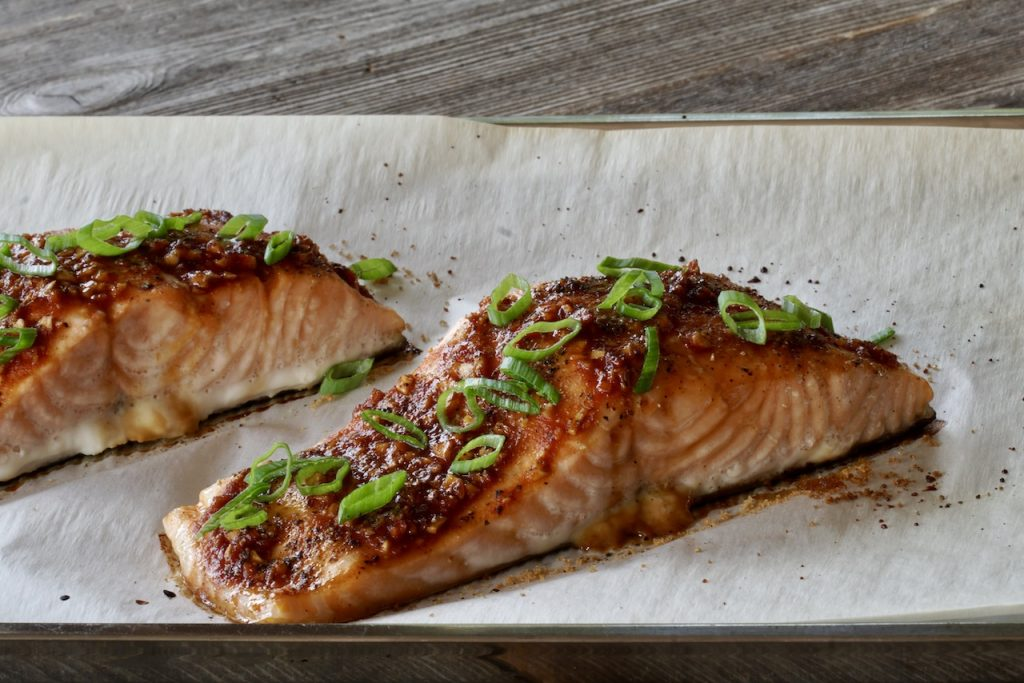 Sweet and Spicy Asian Salmon