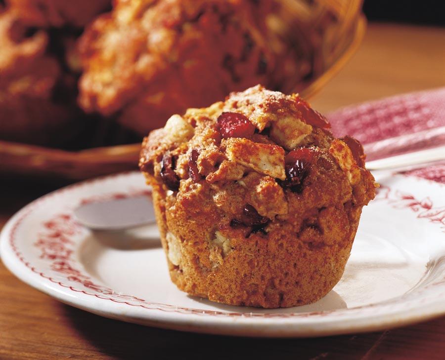 Chunky Cran-Apple Bran Muffins