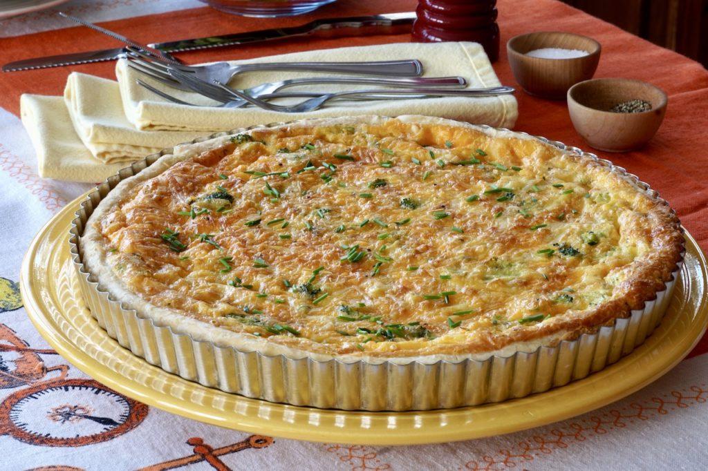 Two-Cheese Broccoli Quiche