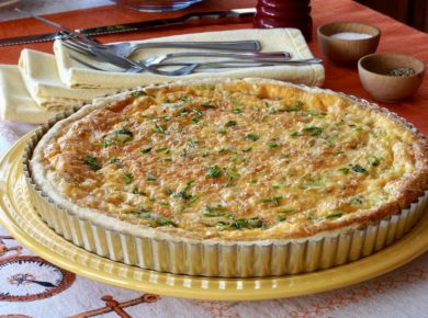 Two-Cheese Broccoli Quiche
