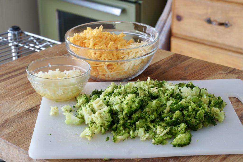 Broccoli, sautéed onion and two cheese