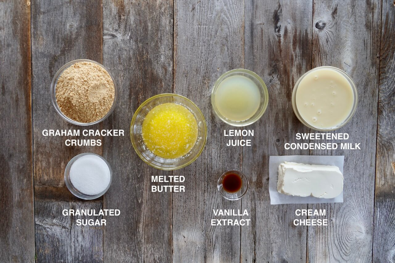 Ingredients for the Easy No-Bake Cheesecake