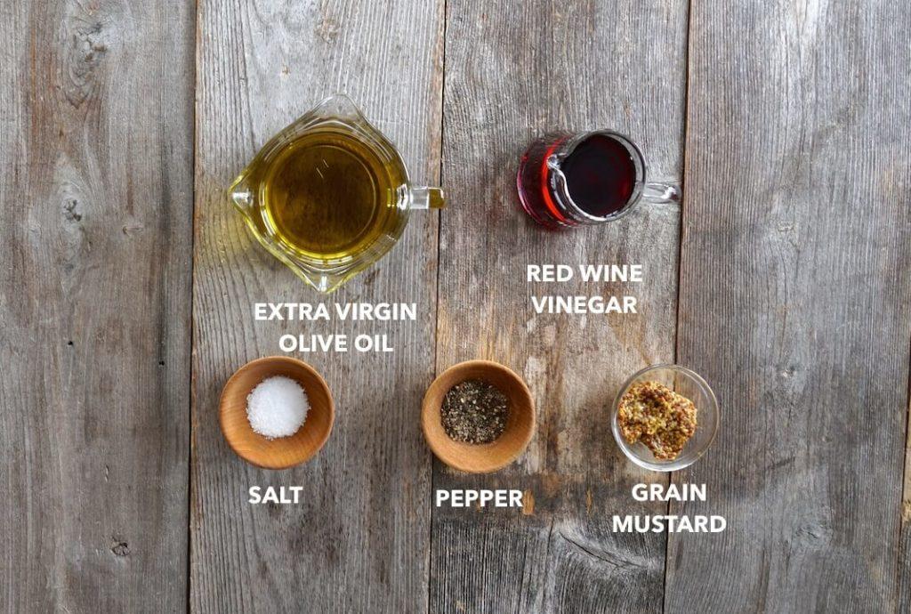 Ingredients for Mustard Vinaigrette