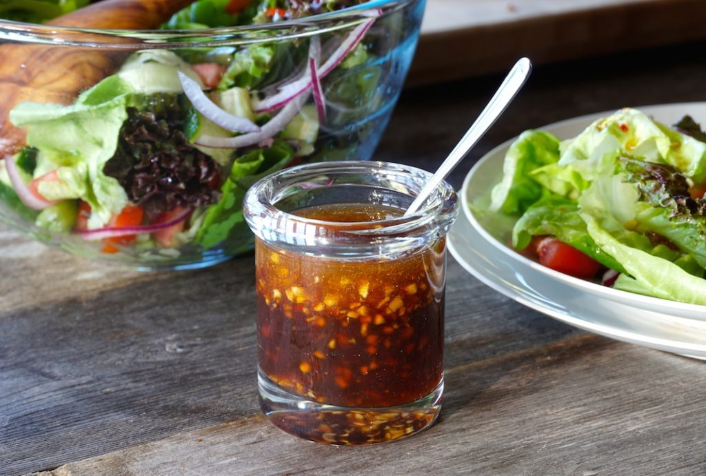 Asian salad dressing FOR ROASTED ASPARAGUS WITH WATERMELON RADISH
