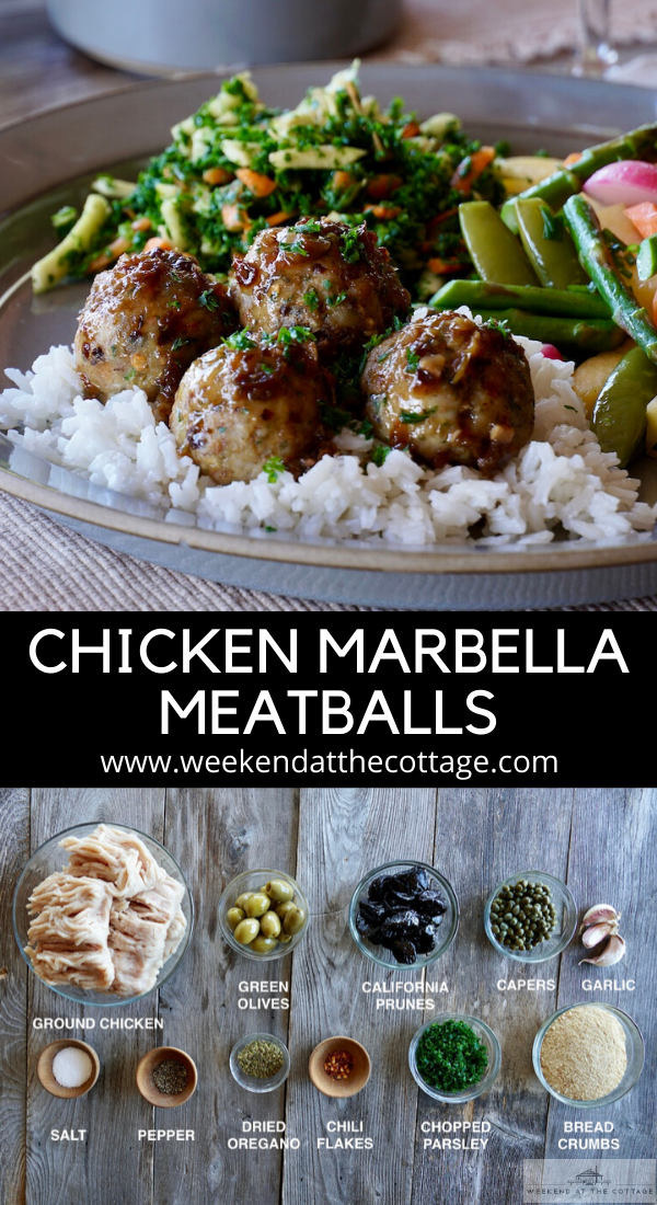 Chicken Marbella Meatballs