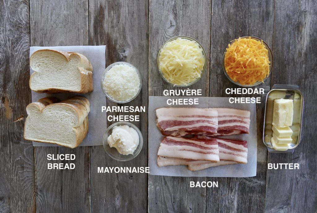 The ingredients for our grilled cheese!