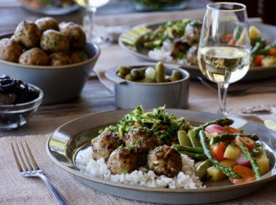 Chicken Marbella Meatballs