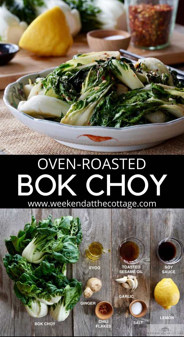 Oven-Roasted Bok Choy
