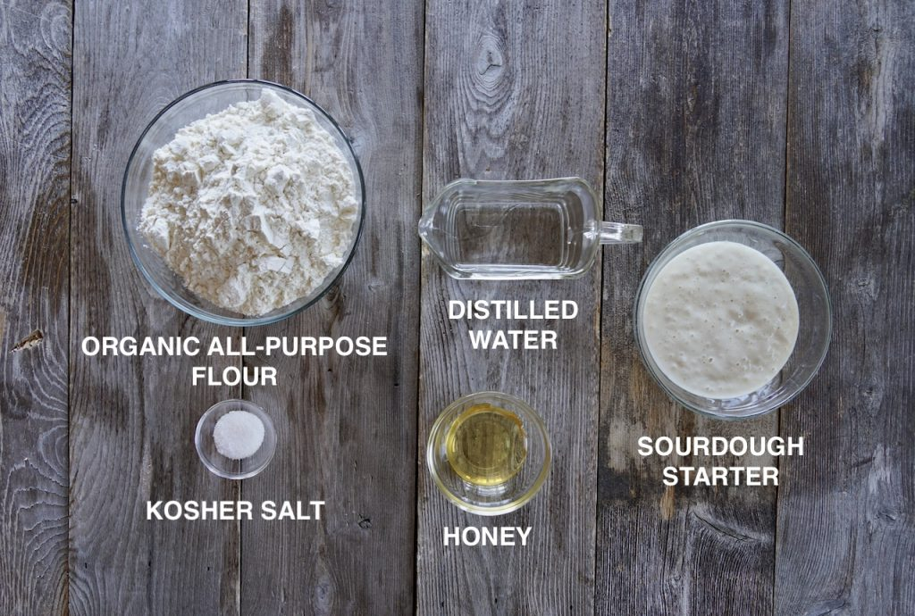 Ingredients for Homemade Sourdough Bread