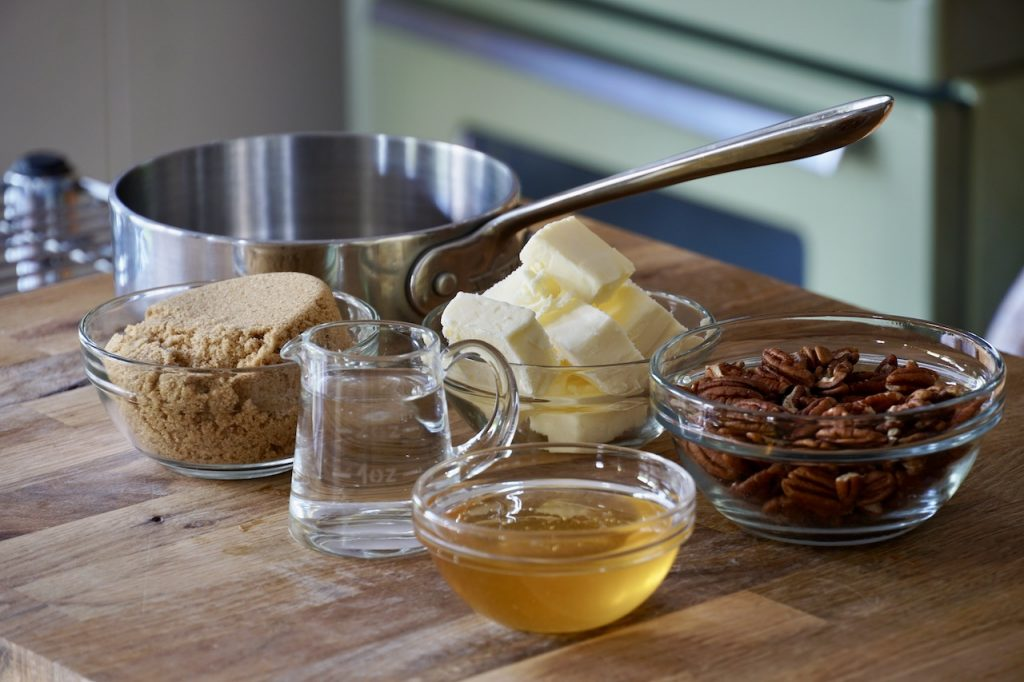 Ingredients for the gooey syrup