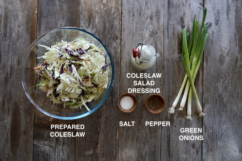Ingredients for the Creamy Coleslaw