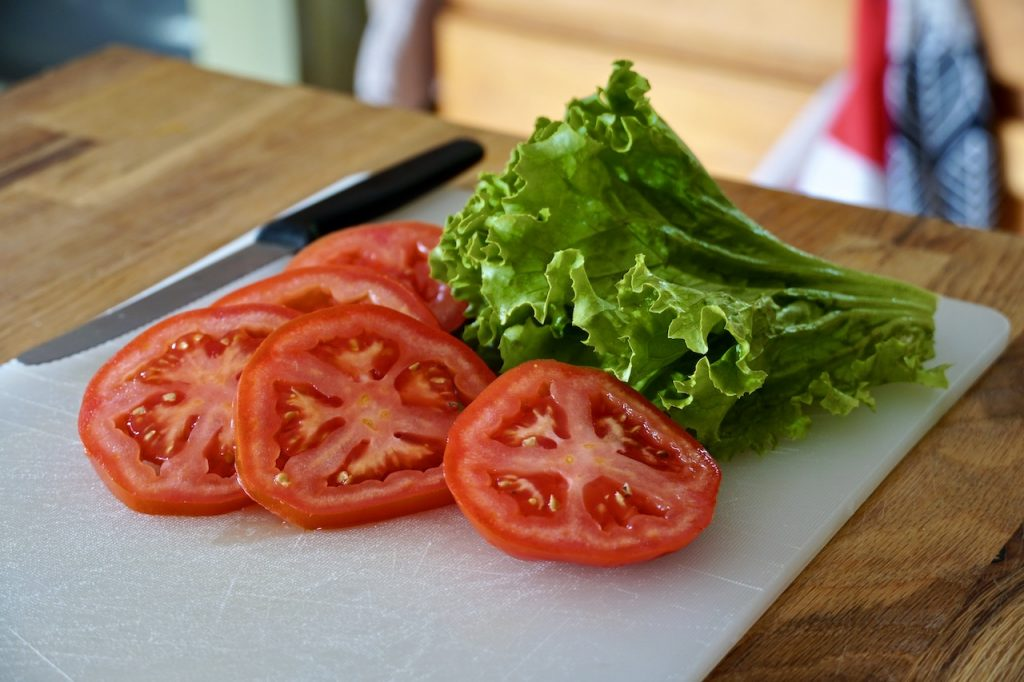 Tomato and lettuce for the inside of the sandwich.