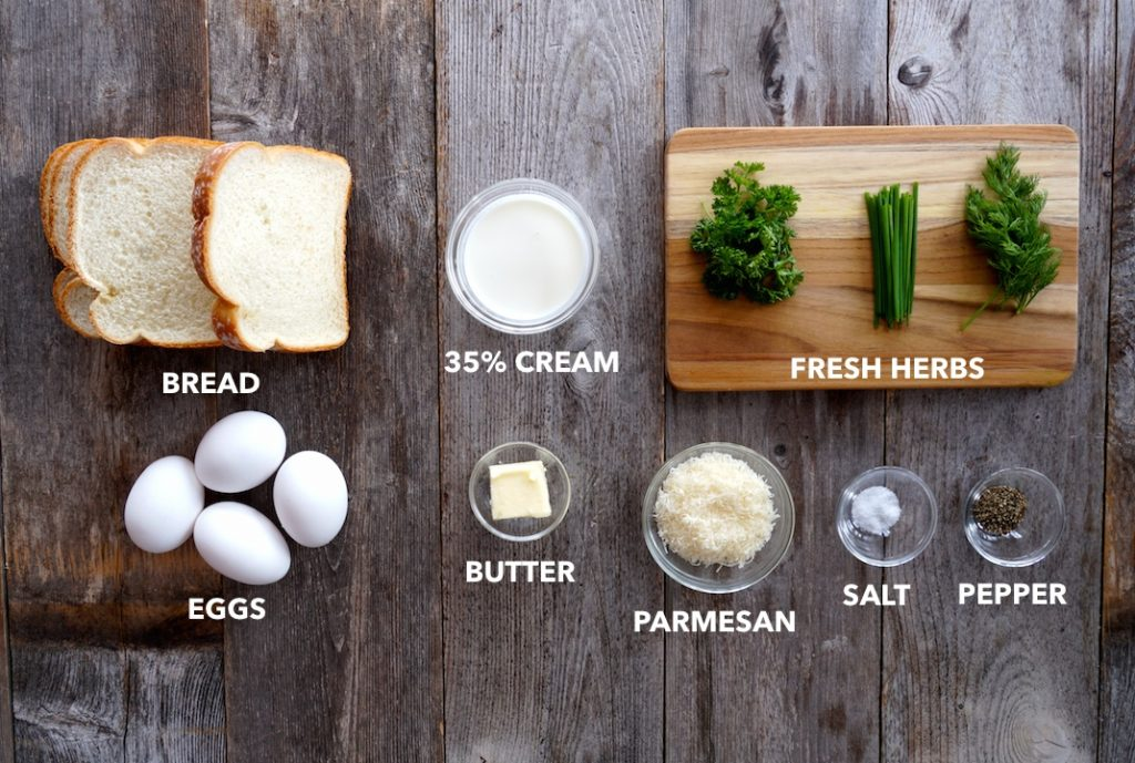 Ingredients for Easy Baked Eggs