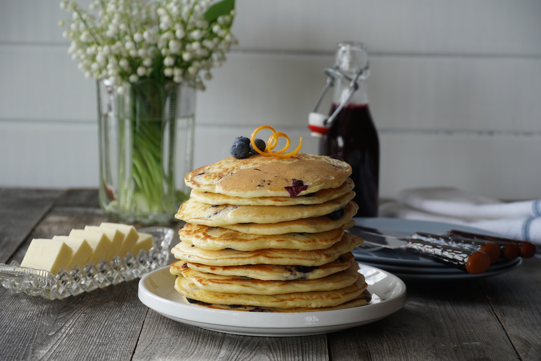A stack of pancakes ready for the syrup