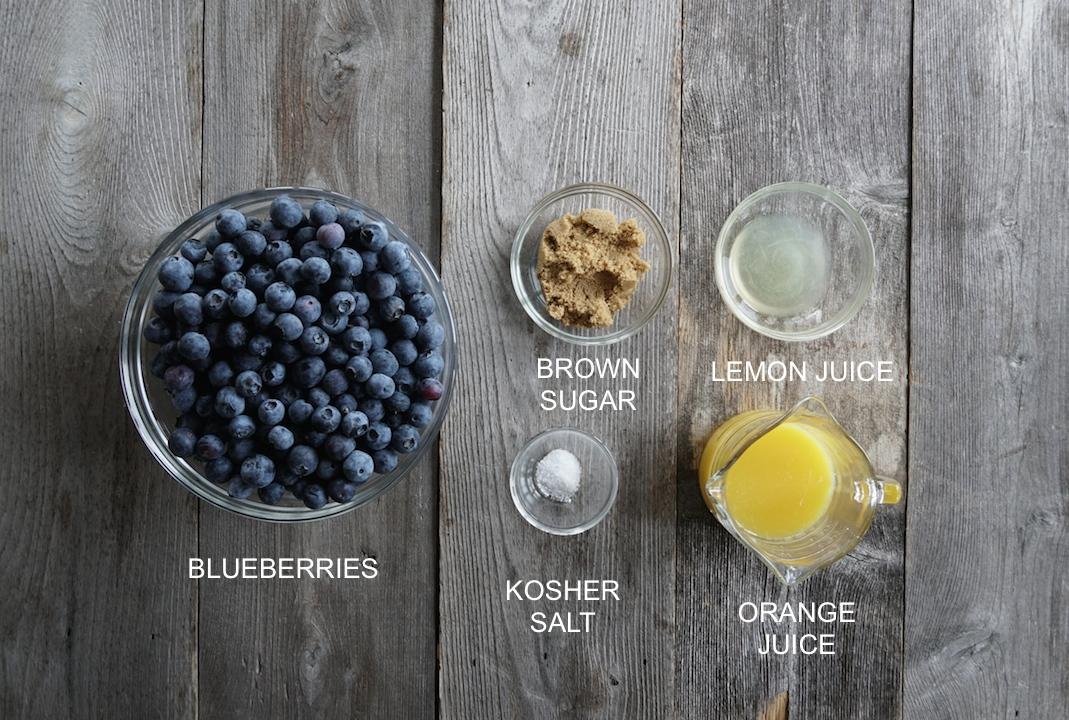 Ingredients for Homemade Blueberry Syrup