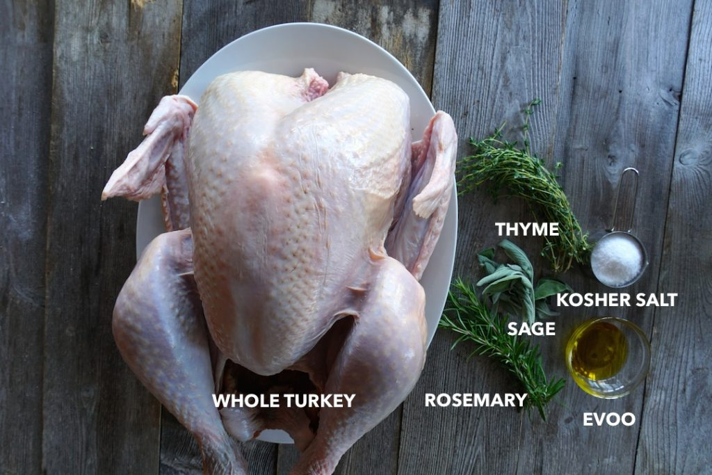 Ingredients for Dry-Brined Turkey Recipe