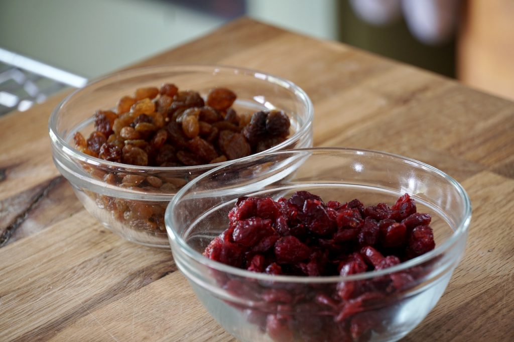granberries and raisins for the granola