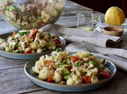 Mediterranean Cauliflower Salad